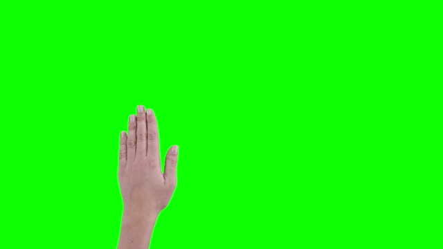 Woman hand gesture video