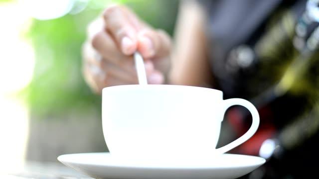 Woman Hand take a coffee video