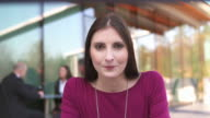 HD: Woman Having Outdoor Video Conference video