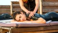 HD: Woman having thalassotherapy massage video
