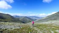 Woman Hiker Walking During Trekking video