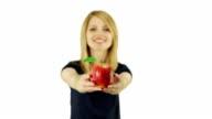 Woman Holding Apple video