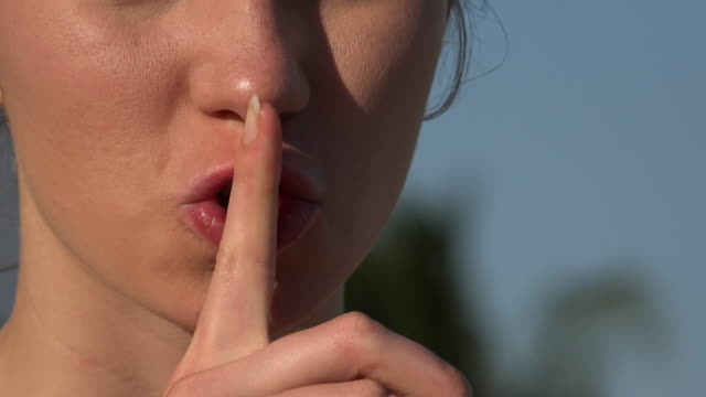 Woman Hushing or Shushing video