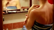 Woman in bathroom video