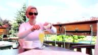 Woman in Cafe video