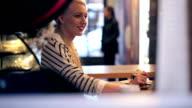 Woman in coffeeshop video