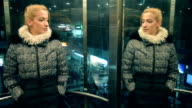 Woman in elevator. video