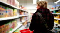 Woman in Grocery Store video