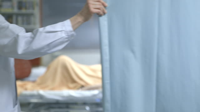 Woman in hospital bed. video