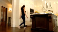 Woman in new Kitchen video