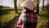 Woman in park video
