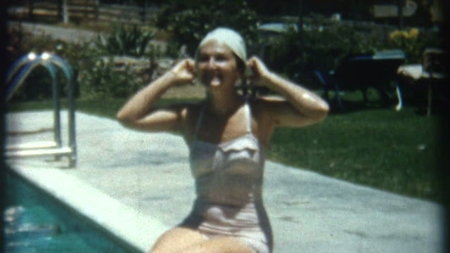 Woman In Pool 1950's video