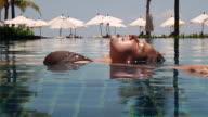 Woman in Pool (HD 1080) video