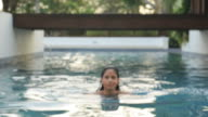 Woman in pool video