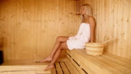 Woman in sauna video