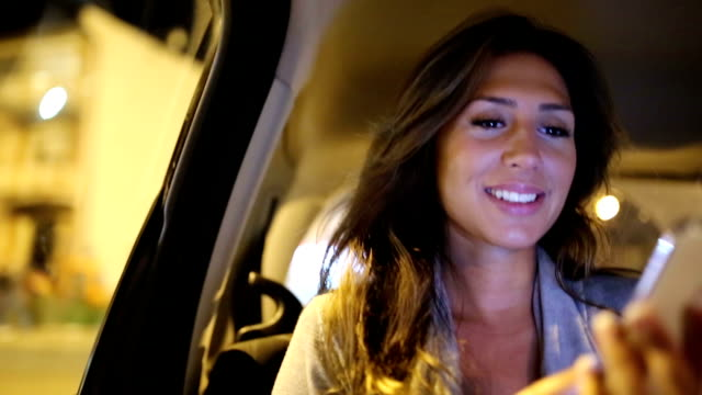 Woman in taxi video