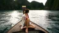Woman in Thai Taxi Boat video