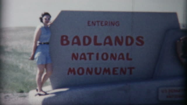 Woman in the Badlands 1950's video