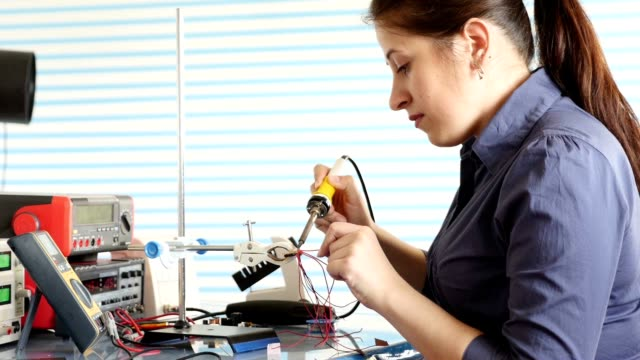 Woman In The Electronics Lab video
