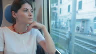 Woman in the train. video