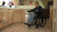 Woman in wheelchair with dog video