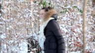 woman in winter park video