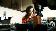 Woman in workshop video
