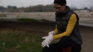 Woman investigator video
