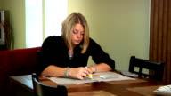 Woman Job hunting video