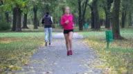 Woman jogging video