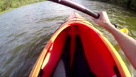 Woman Kayaking Personal Perspective video