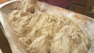 HD DOLLY: Woman Kneading Yeast Dough video