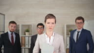 Woman Leading a Business Team video