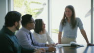 Woman Leading Business Brainstorming Meeting video