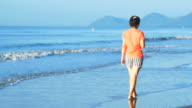 Woman Lifestyle Walking On The Beach video