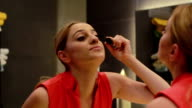 HD: Woman Make-up - Stock Video video