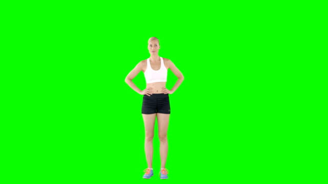 Woman making a hand gesture video