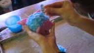 Woman Making Beautiful Candle video