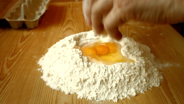 Woman Making Dough. video