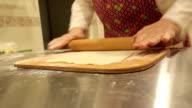 Woman making dough video