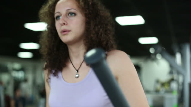Woman on a cardio machine video