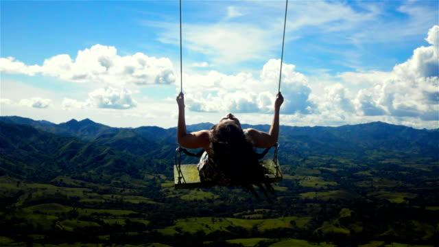 Woman on a swing video