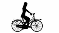 Woman on cycle ride  (Loopable) video