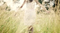 Woman on meadow video
