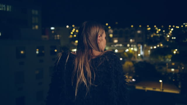Woman on rooftop video