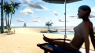 Woman on the beach video