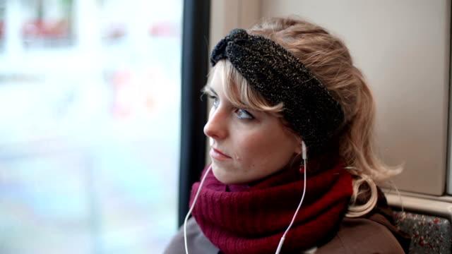 Woman on Train video