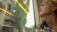 Woman On Trolley video