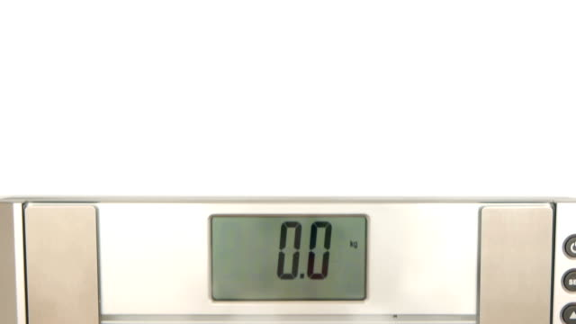 HD - Woman on weight scales video