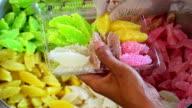 Woman Packing thai sweet video